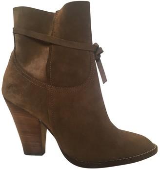 Vanessa Bruno Camel Velvet Ankle boots