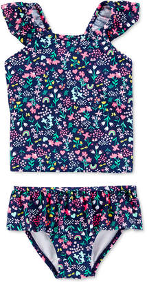 Carter's Carter Baby Girls 2-Pc. Floral-Print Tankini Swim Suit