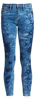 Frame Women's Le High Skinny Raw Edge Patterned Jeans