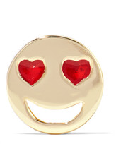 Alison Lou Lovestruck Enameled 14-karat Gold Earring - one size