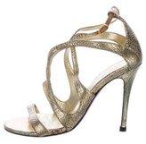 Alexander McQueen Multistrap Metallic Sandals