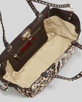 Valentino Rockstud Mini Leopard-Print Calf Hair Tote Bag