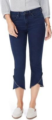 NYDJ Crisscross Fray Hem Capri Jeans
