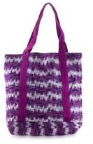 Purple Cotton Hand Woven Tote Shoulder Bag, 'Amethyst Twilight'