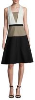 Ava & Aiden Colorblock Midi A-Line Dress