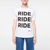 Paul Smith Women's White 'Ride' Print Organic-Cotton T-Shirt