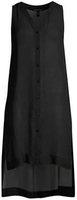 Eileen Fisher Sleeveless Silk Step-Hem Tunic