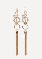 Bebe Snake & Tassel Earrings