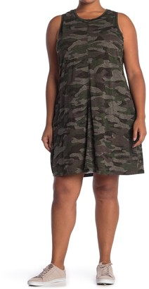 Democracy Scoop Neck Sleeveless Camo Print Dress