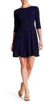 Taylor Fagoting Stitch Crepe Dress