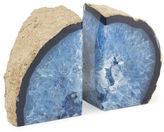 Jonathan Adler Blue Agate Bookends