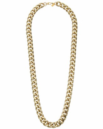 Kenneth Jay Lane Gold Filed Link Chain Necklace Polished Gold One Size