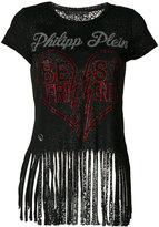 Philipp Plein Best Friends fringed T-shirt