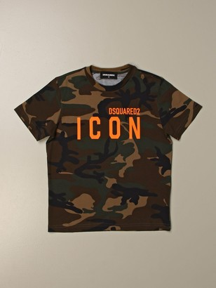 Dsquared2 Junior T-shirt In Cotton With Icon Print
