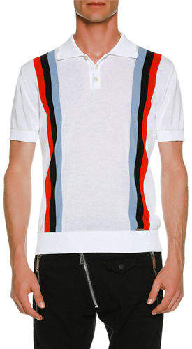 DSQUARED2 Striped Knit Polo Shirt