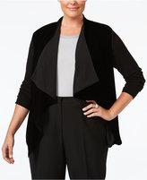 MICHAEL Michael Kors Size Velvet-Front Cardigan