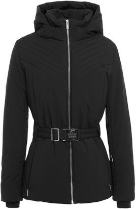 Fusalp Faux Fur-trimmed Belted Hooded Ski Jacket