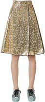 Odeeh Lamé Silk Hearts Jacquard Skirt