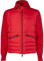 Moncler Panelled Wool-Blend Down Jacket