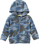 Joe Fresh Baby Boys' Print Hoodie, Dusty Blue (Size 3-6)
