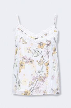 Forever 21 Floral Lace-Trim Cami