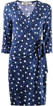 Diane von Furstenberg Dot Print Wrap Dress