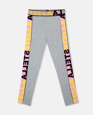 Stella Mccartney Kids Stella McCartney logo jersey sport leggings