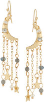 Fragments for Neiman Marcus Moon Dangle Earrings w/ Crystals