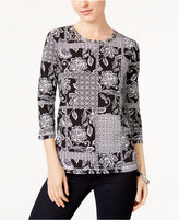 Alfred Dunner Mixed-Print Top