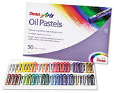 Pentel Oil Pastel Set with Carrying Case, 50/Set