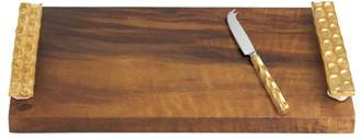 Michael Wainwright Truro Gold Wood Cheese Tray with Knife