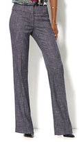 New York & Co. 7th Avenue Design Studio Pant - Signature - Universal Fit - Bootcut - Grid Print - Petite