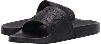 MCM Logo Group Slide (Black) Men's Shoes