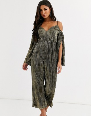 Rare London off shoulder jumpsuit