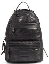 John Varvatos Men's 'Detroit' Suede Backpack - Black