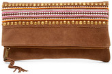 Sondra Roberts Beaded Suede Clutch