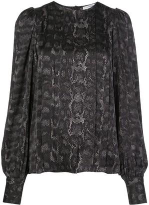 Anine Bing Renee snake-print blouse