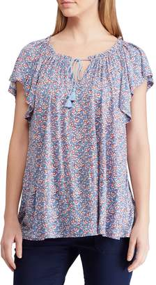 Chaps Petite Floral Jersey Top