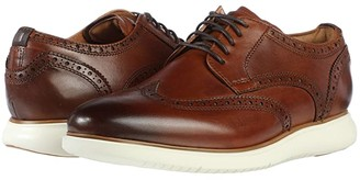 Florsheim Fuel Wing Tip Oxford (Scotch Smooth/White Sole) Men's Lace Up Wing Tip Shoes