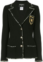 Chanel Pre Owned 2005 patch detail blazer