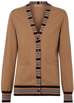 Burberry Stripe-Detail Cardigan