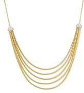 Marco Bicego 18K Yellow Gold Cairo Five Strand Necklace with Diamonds, 16.5