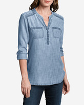 Eddie Bauer Women's Tranquil Embroidered Tunic - Indigo