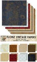 Paper Pack (24sh 15x15cm) Old Oak FLONZ Vintage Paper for Scrapbooking and Craft