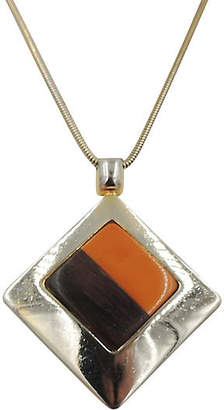One Kings Lane Vintage Dior Wood & Lucite Pendant Necklace - Carrie's Couture