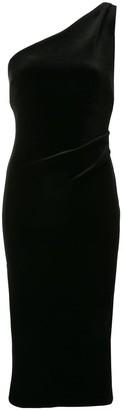 Bec & Bridge Oliviane velvet asymmetric evening dress