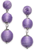 INC International Concepts Silver-Tone Threaded Ball Triple Drop Earrings, Created for Macy's
