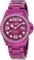 Haurex Italy Women's XK374DP3 Ink Stones Aluminum Crystal Date Watch