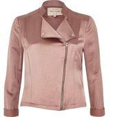 River Island Womens Pink satin biker jacket