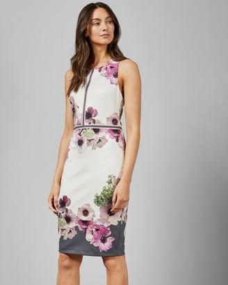 Ted Baker Neapolitan Buckle Detail Dress